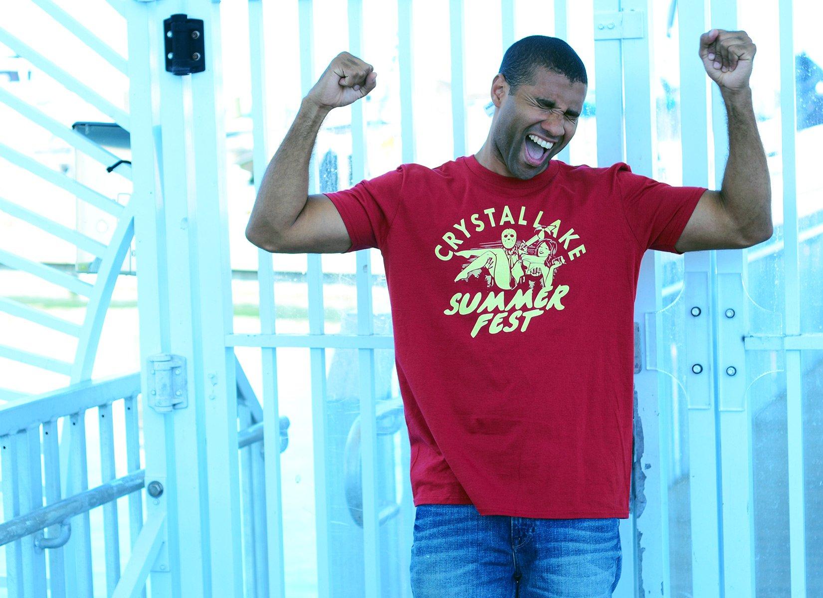 Crystal Lake Summer Fest on Mens T-Shirt