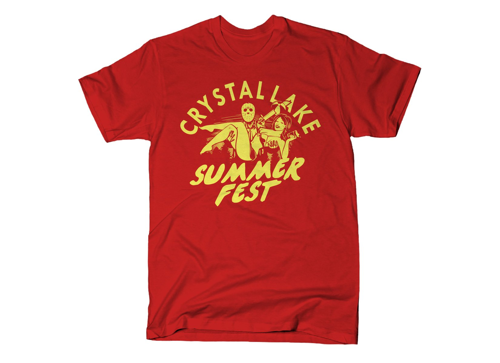 Crystal Lake Summer Fest on Mens T-Shirt