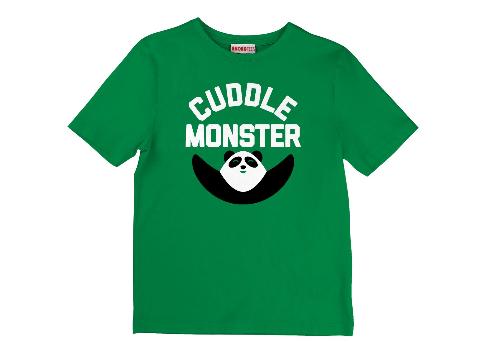 Cuddle Monster on Kids T-Shirt