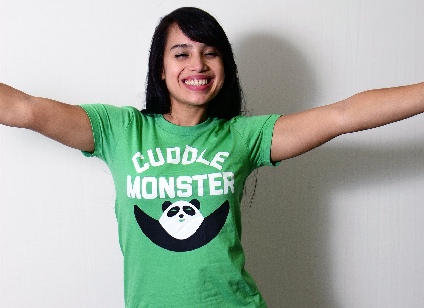 Cuddle Monster on Juniors T-Shirt