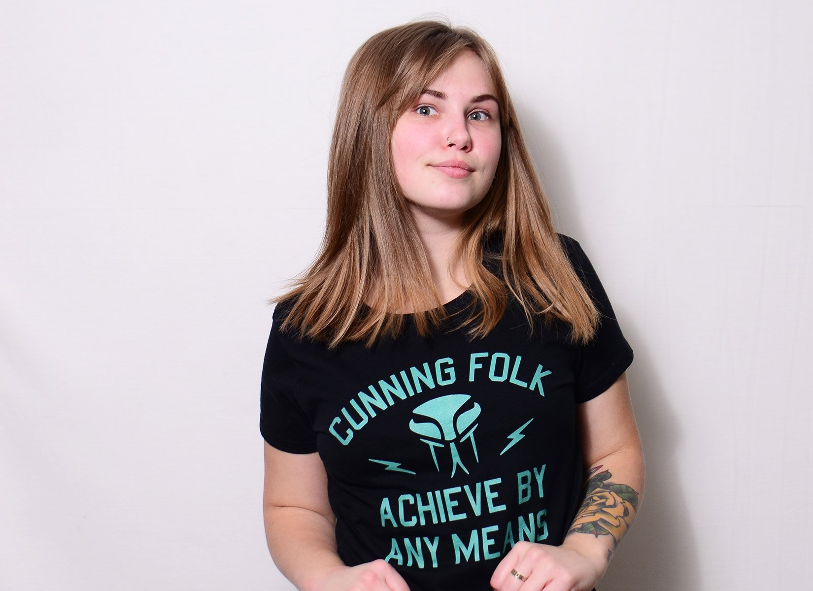 Cunning Folk Achieve By Any Means on Womens T-Shirt
