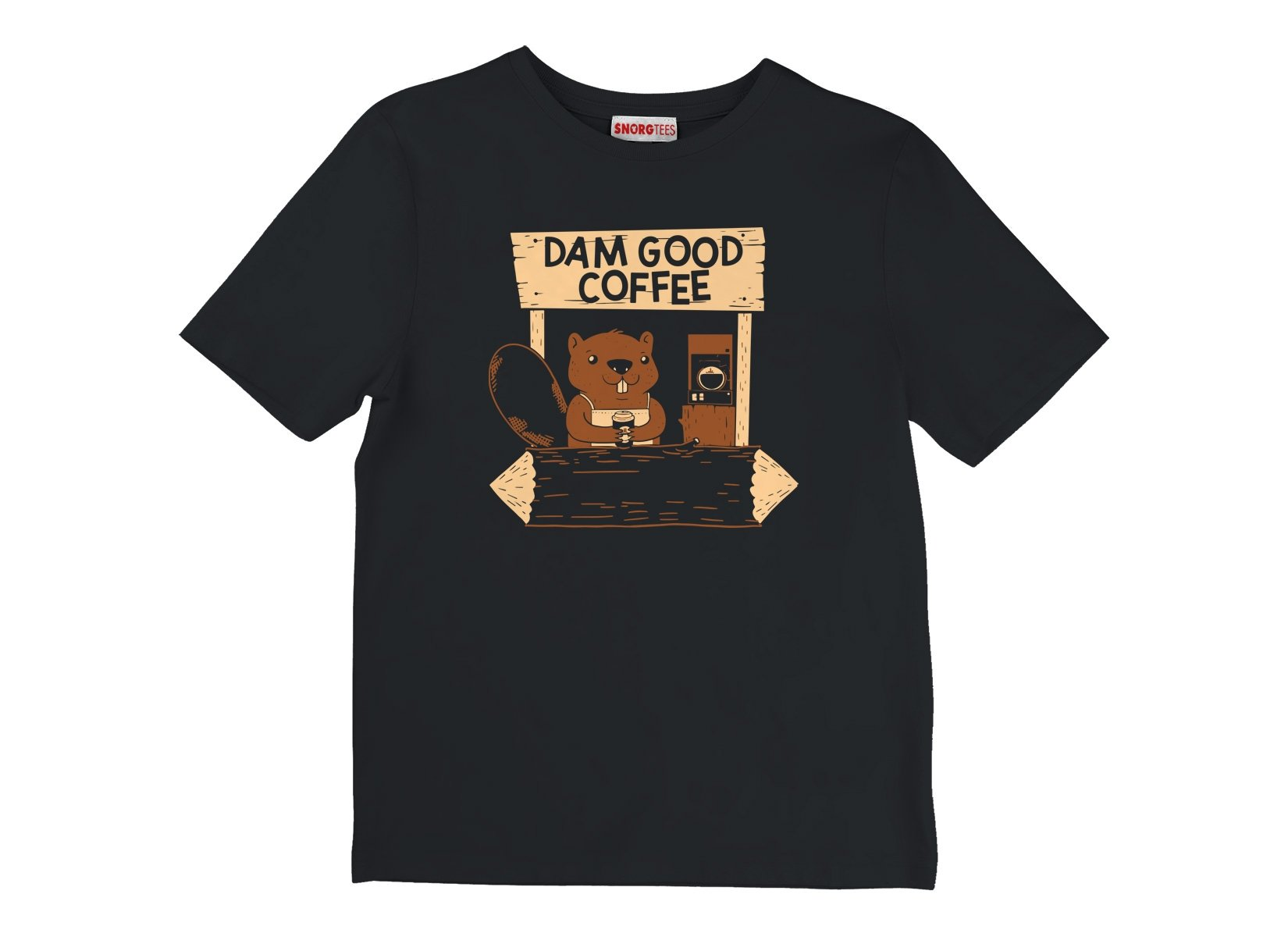 Dam Good Coffee on Kids T-Shirt