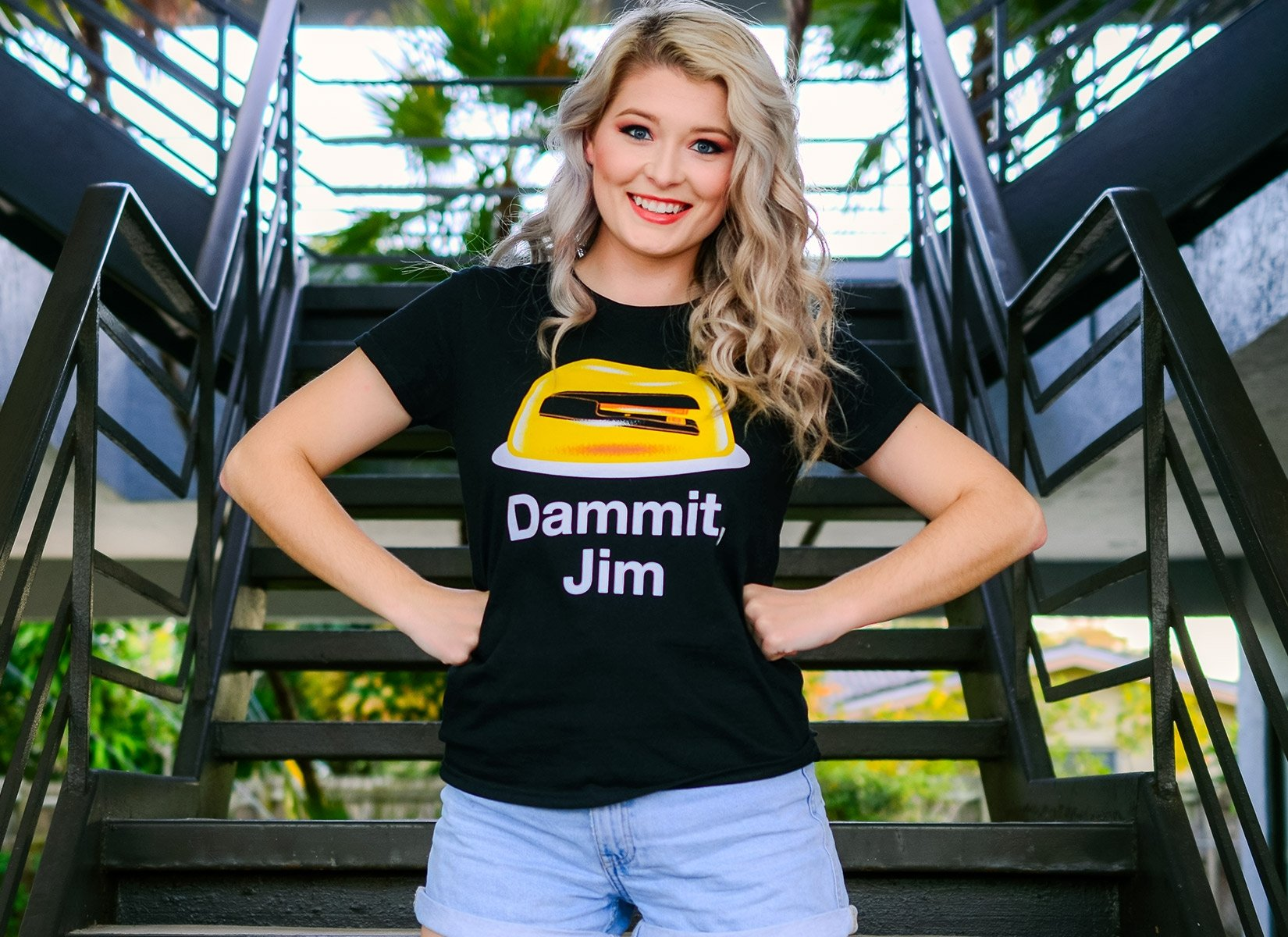 Dammit, Jim on Womens T-Shirt
