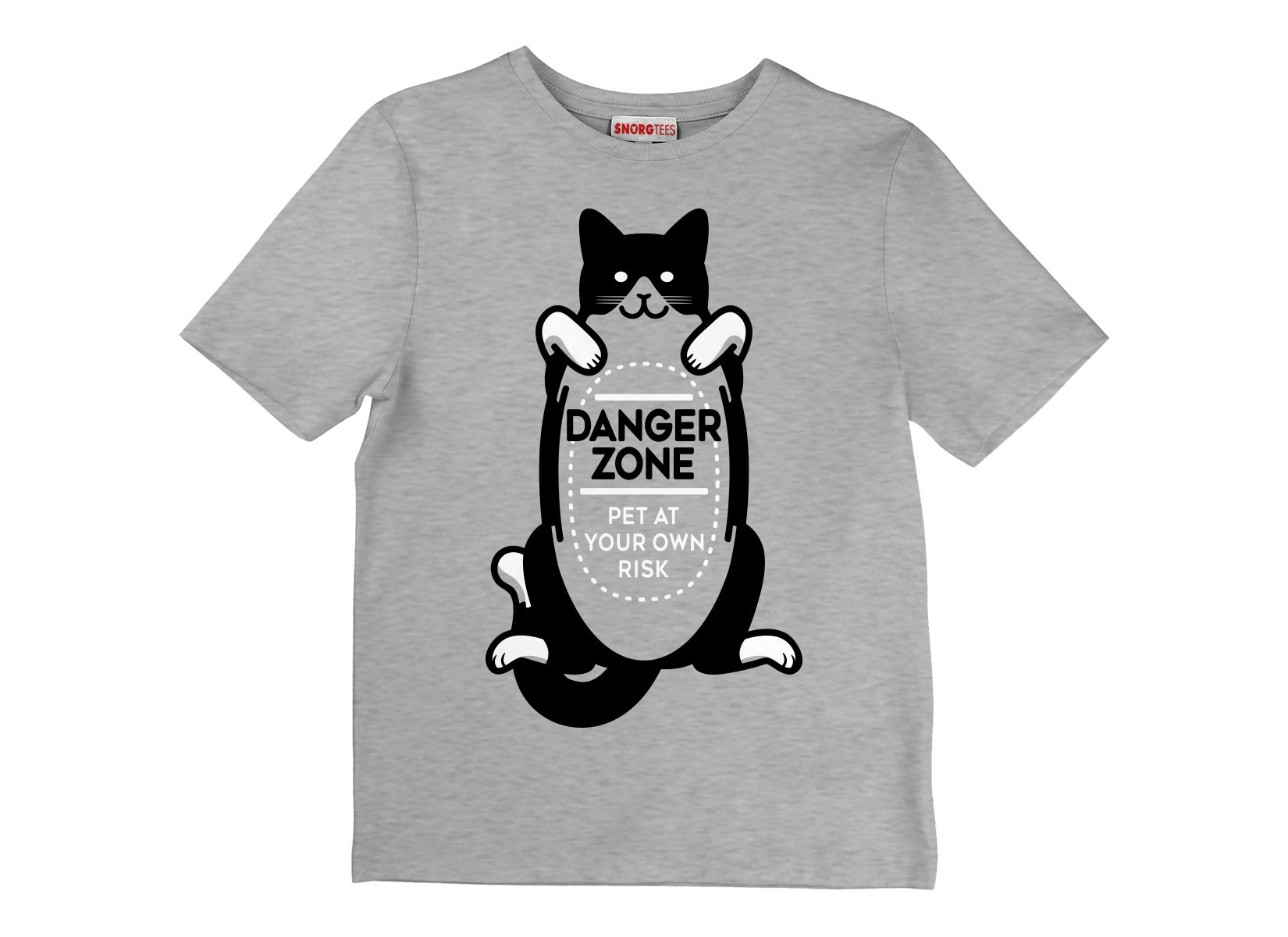 Cat Danger Zone on Kids T-Shirt