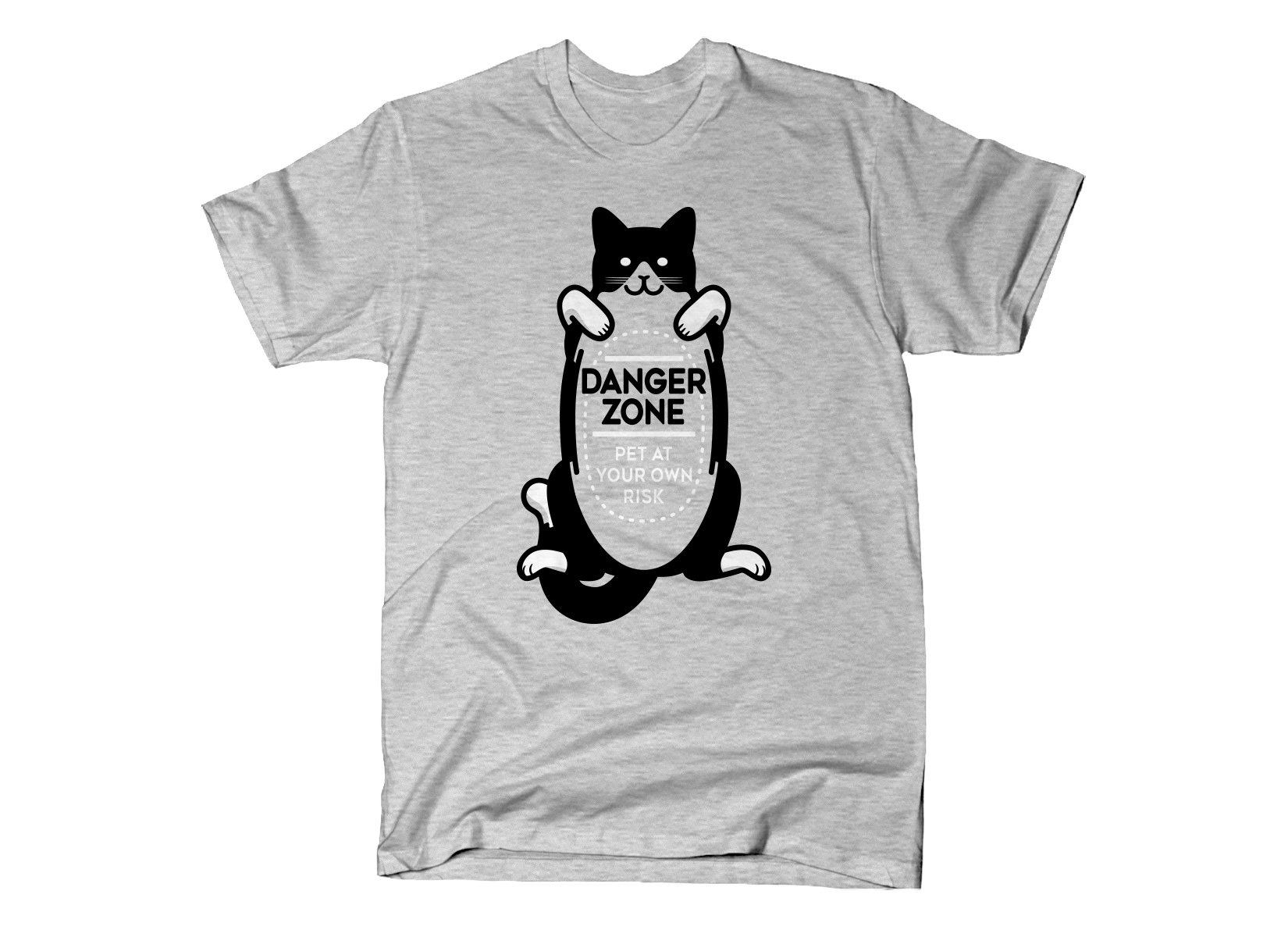 Cat Danger Zone on Mens T-Shirt
