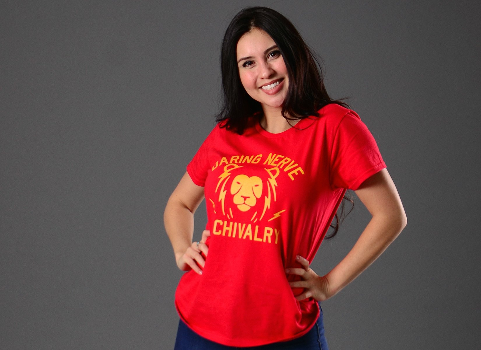 Daring, Nerve, And Chivalry on Womens T-Shirt
