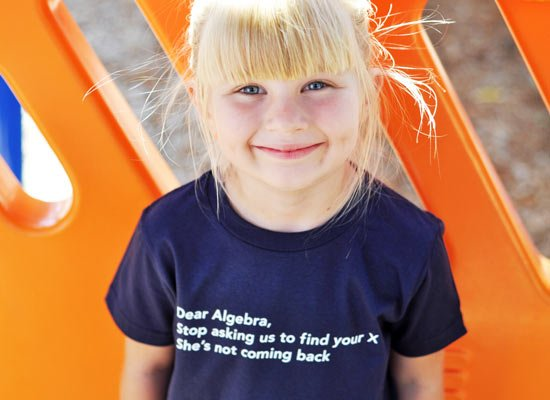 Dear Algebra, Stop Asking Us To Find Your X on Kids T-Shirt