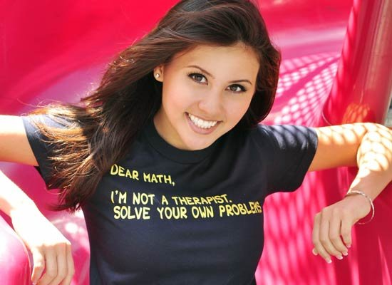 Dear Math, I'm Not A Therapist on Juniors T-Shirt