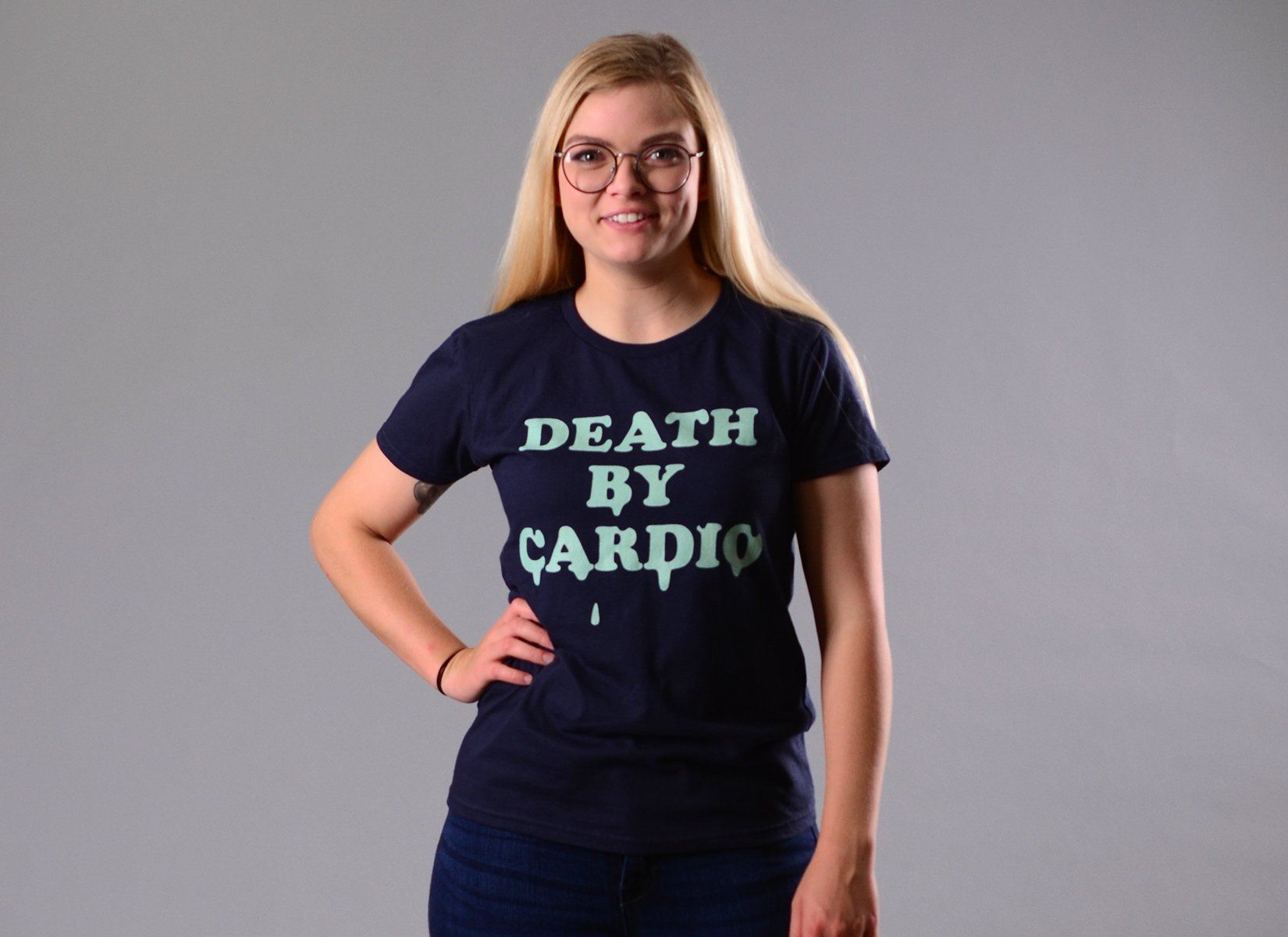 Death By Cardio on Womens T-Shirt