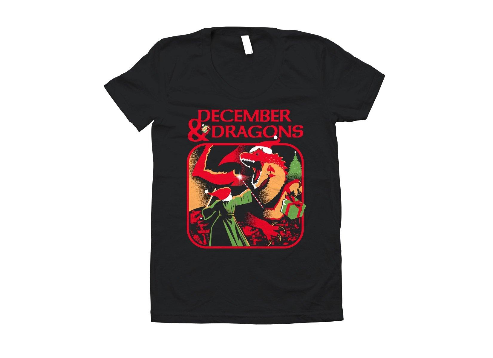 December & Dragons on Juniors T-Shirt