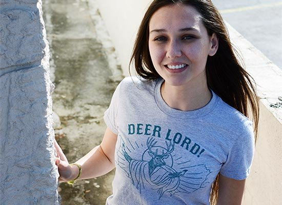 Deer Lord on Juniors T-Shirt