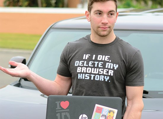 If I Die, Delete My Browser History on Mens T-Shirt