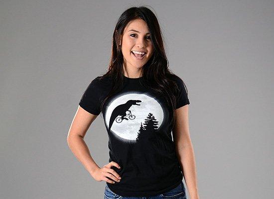 T-Rex Moon on Juniors T-Shirt