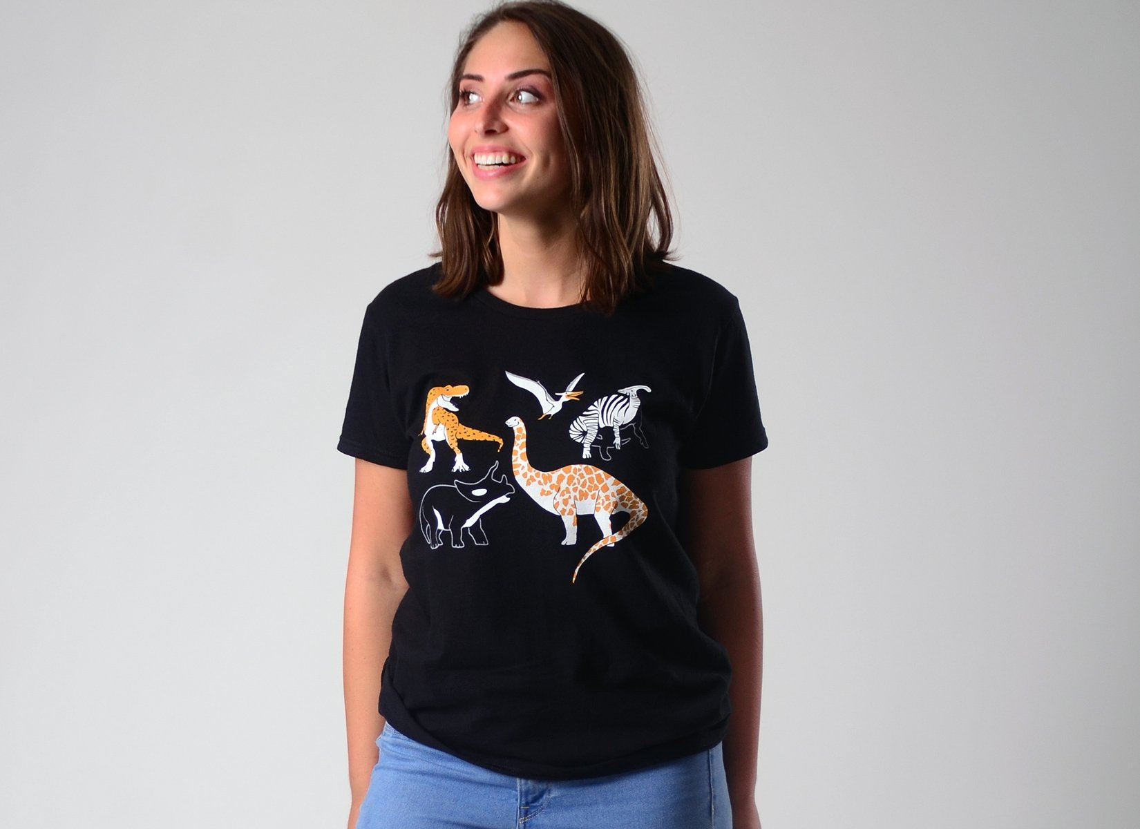 Dino Prints on Womens T-Shirt