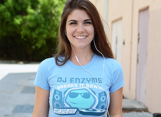 DJ Enzyme on Juniors T-Shirt