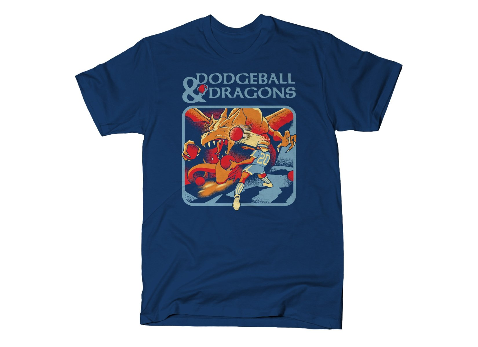 Dodgeball And Dragons on Mens T-Shirt
