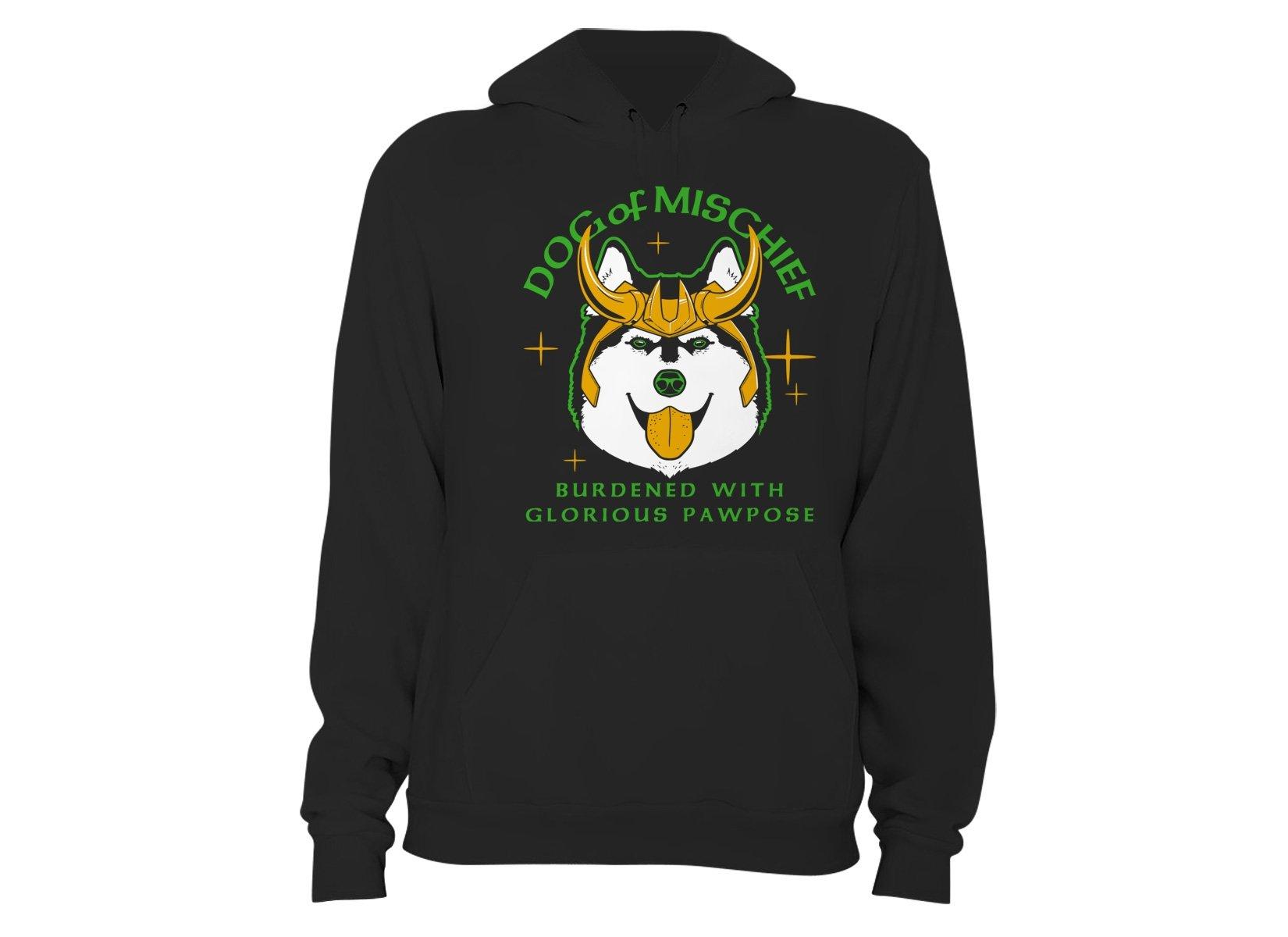 Dog Of Mischief on Hoodie