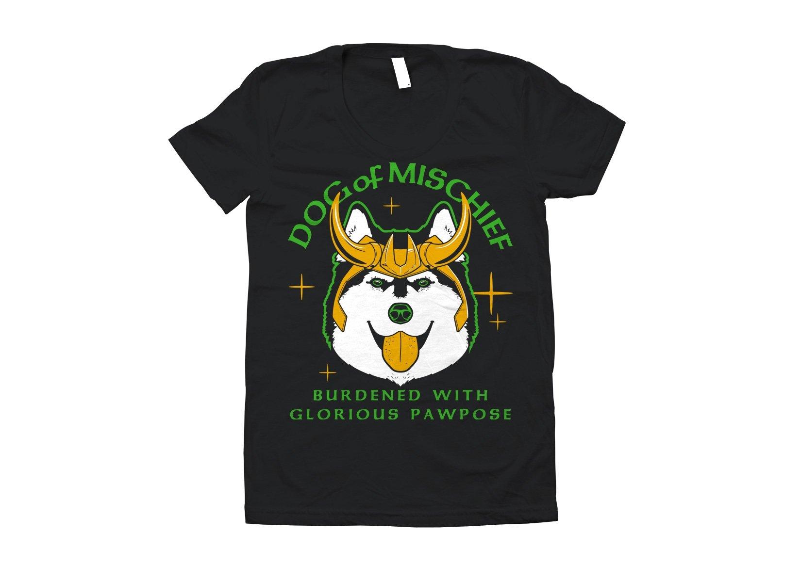 Dog Of Mischief on Juniors T-Shirt