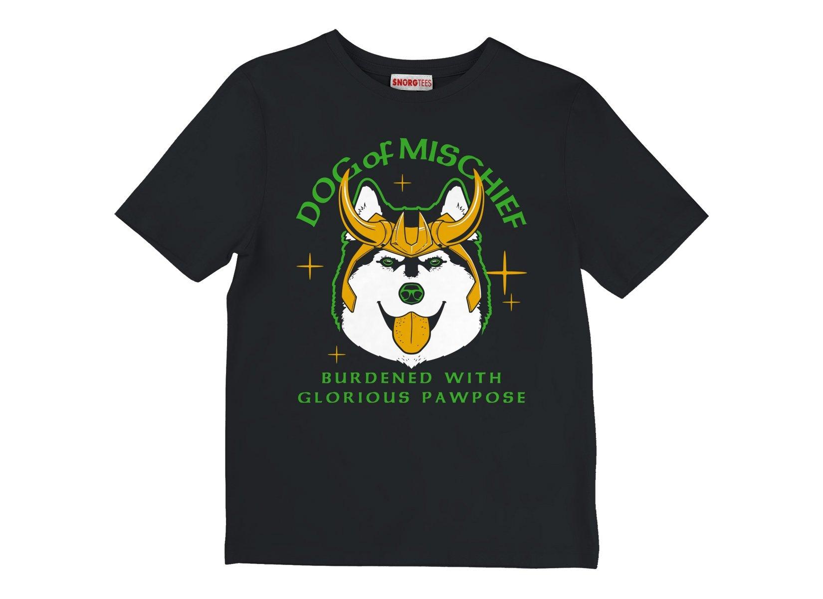Dog Of Mischief on Kids T-Shirt