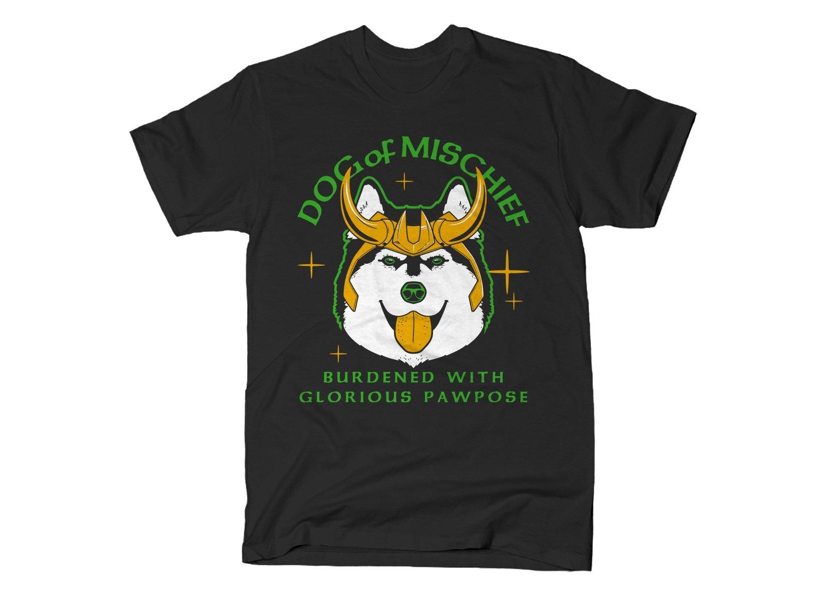 Dog Of Mischief on Mens T-Shirt