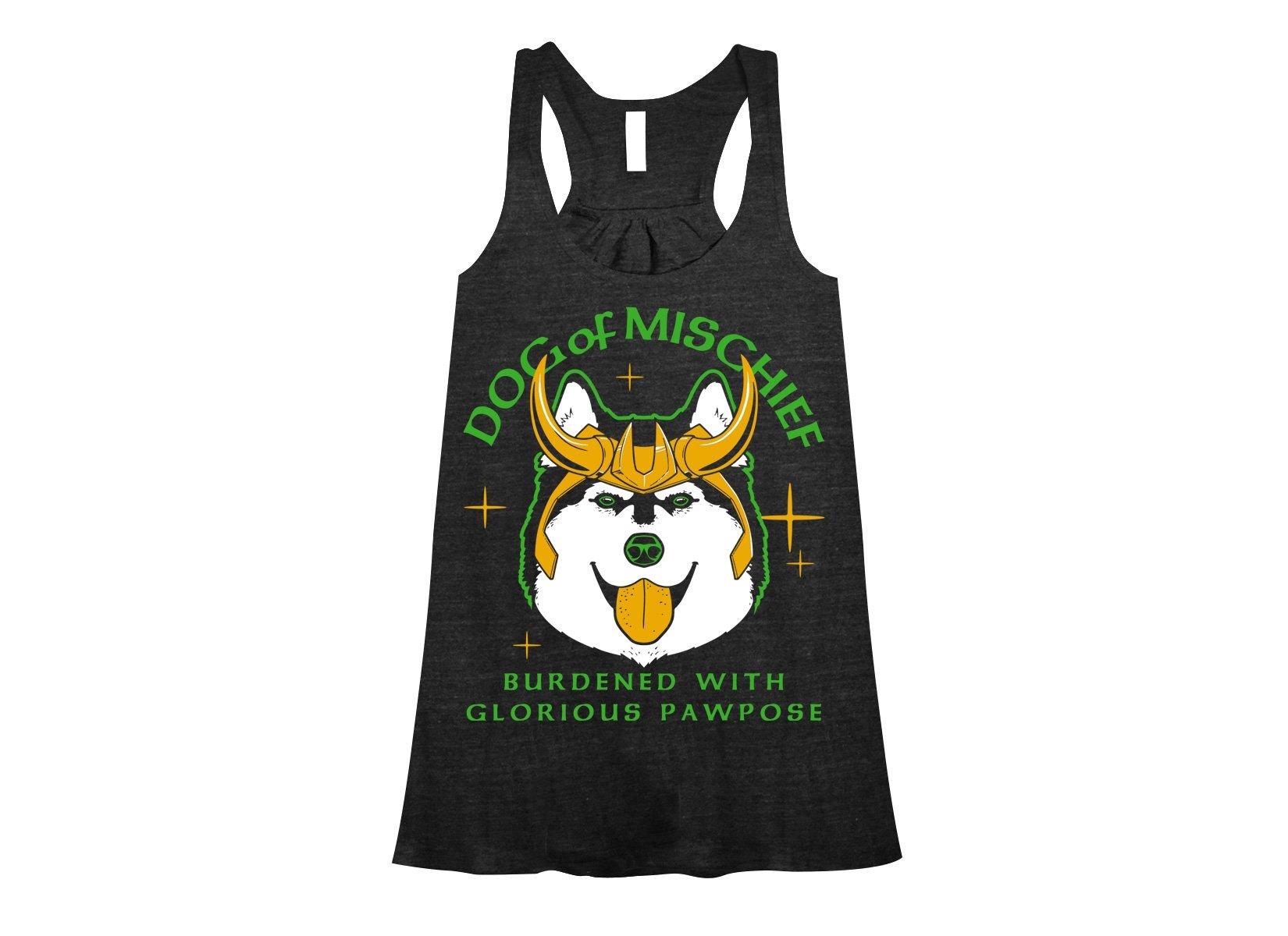 Dog Of Mischief on Womens Tanks T-Shirt