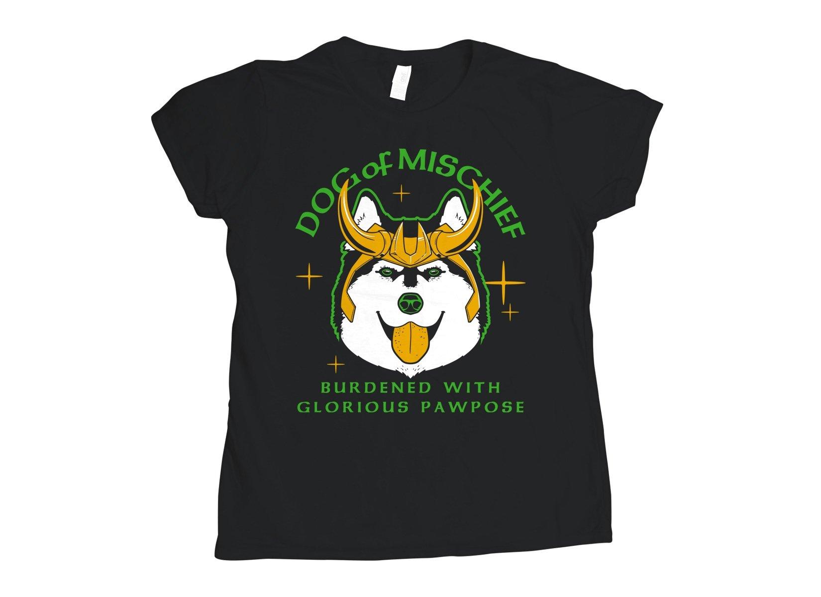 Dog Of Mischief on Womens T-Shirt
