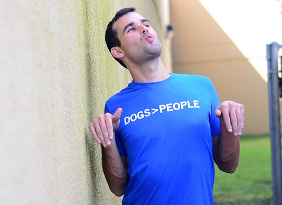 Dogs>People on Mens T-Shirt