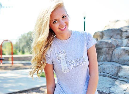 Don't Blink on Juniors T-Shirt