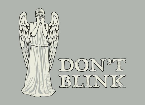 Don't Blink on Mens T-Shirt