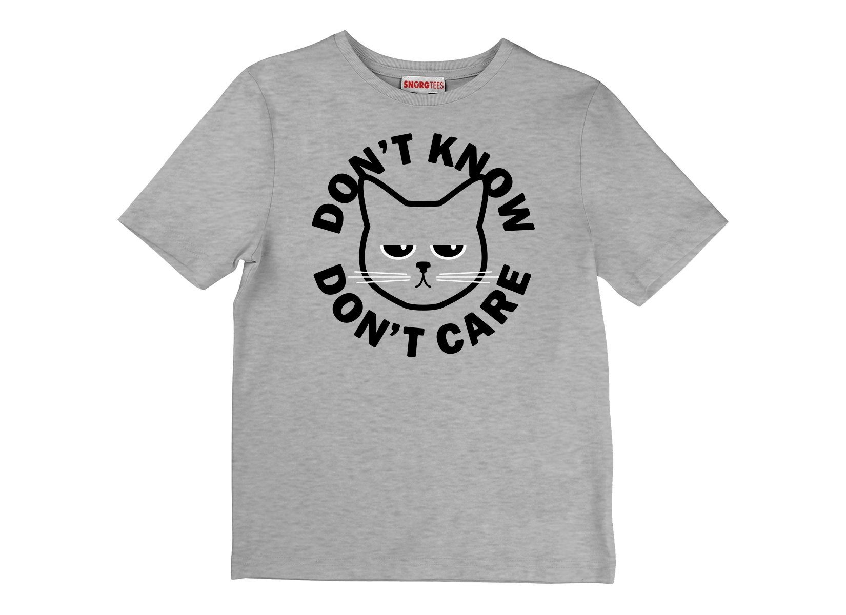 Don't Know Don't Care on Kids T-Shirt