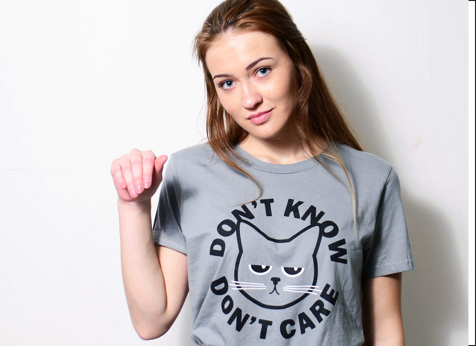 Don't Know Don't Care on Womens T-Shirt