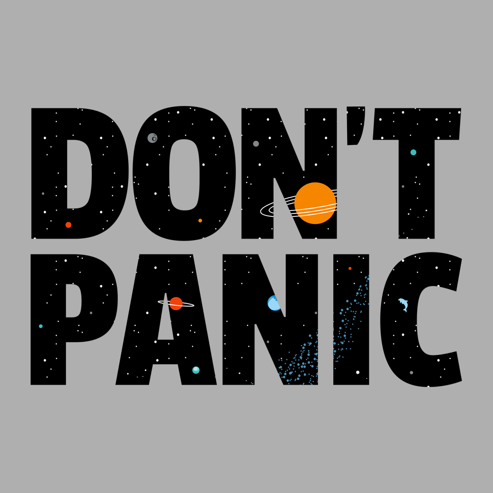 Don 39 t panic t shirt snorgtees for T shirts that don t show sweat