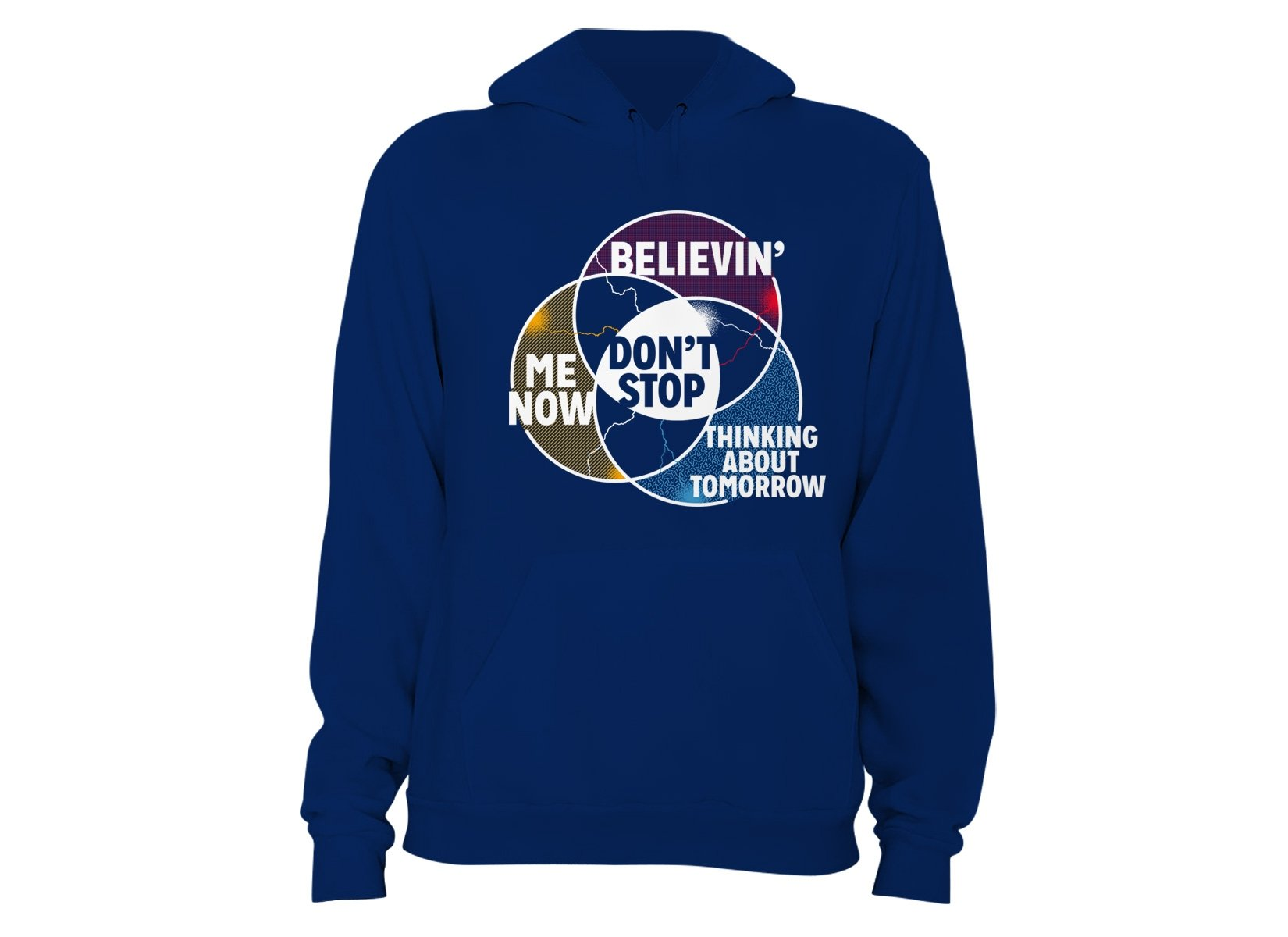 Don't Stop Venn Diagram on Hoodie