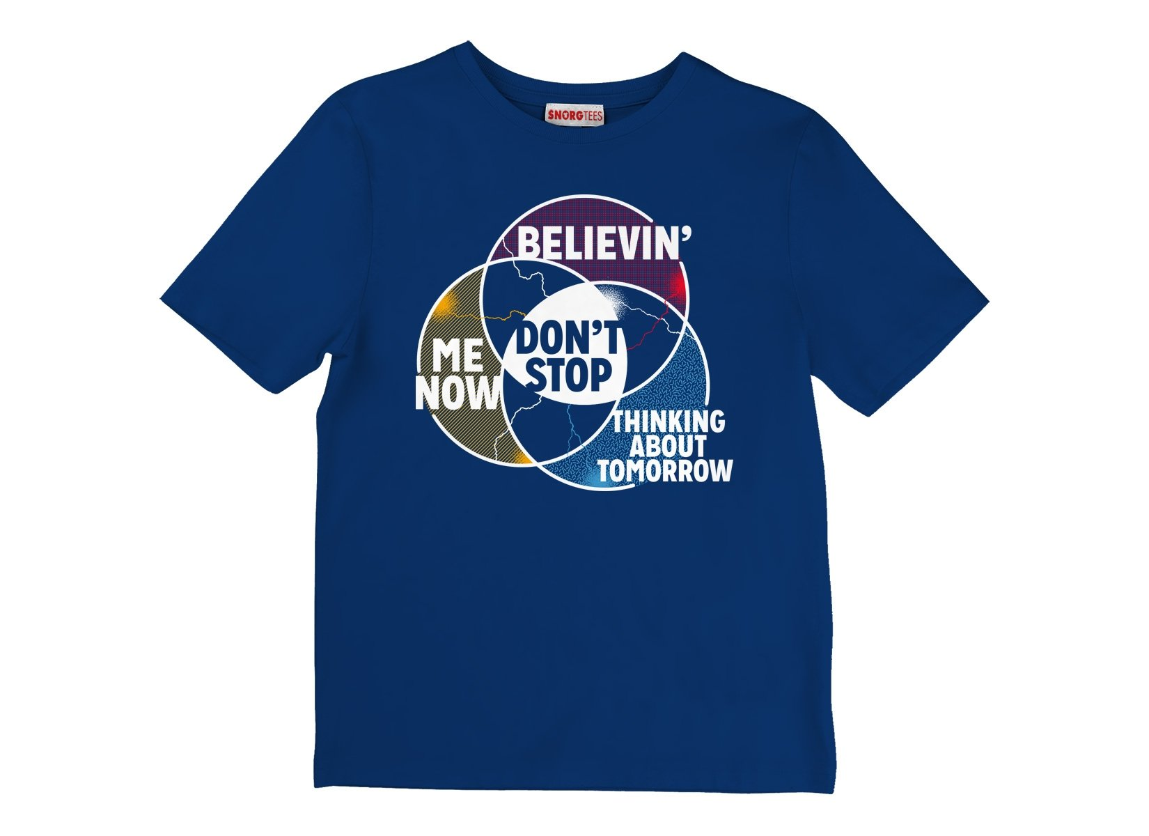 Don't Stop Venn Diagram on Kids T-Shirt