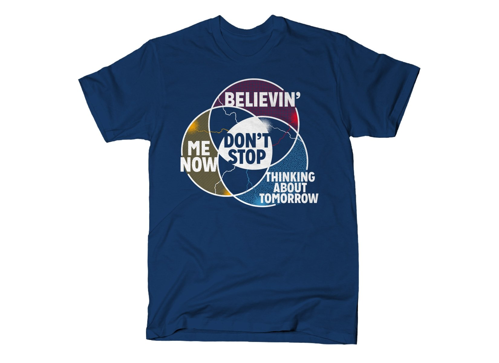 Don't Stop Venn Diagram on Mens T-Shirt