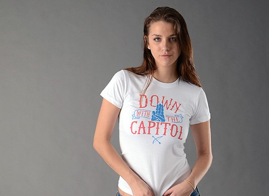 Down With The Capitol on Juniors T-Shirt