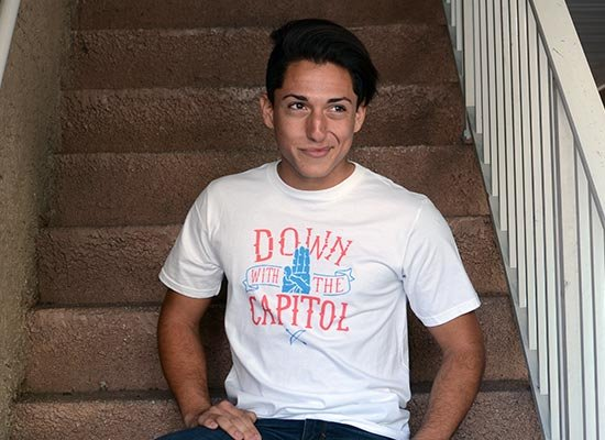 Down With The Capitol on Mens T-Shirt