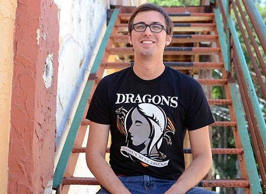 Dragons Are A Girl's Best Friend on Mens T-Shirt