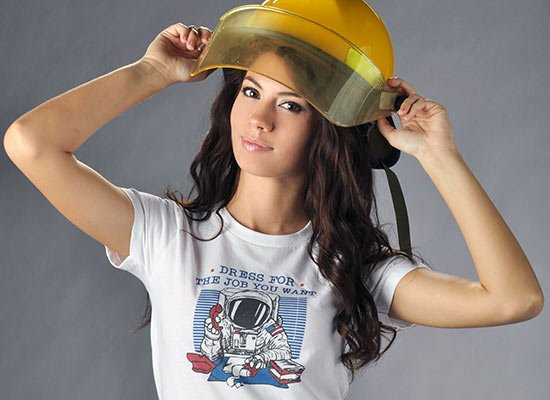 Dress For The Job You Want on Juniors T-Shirt