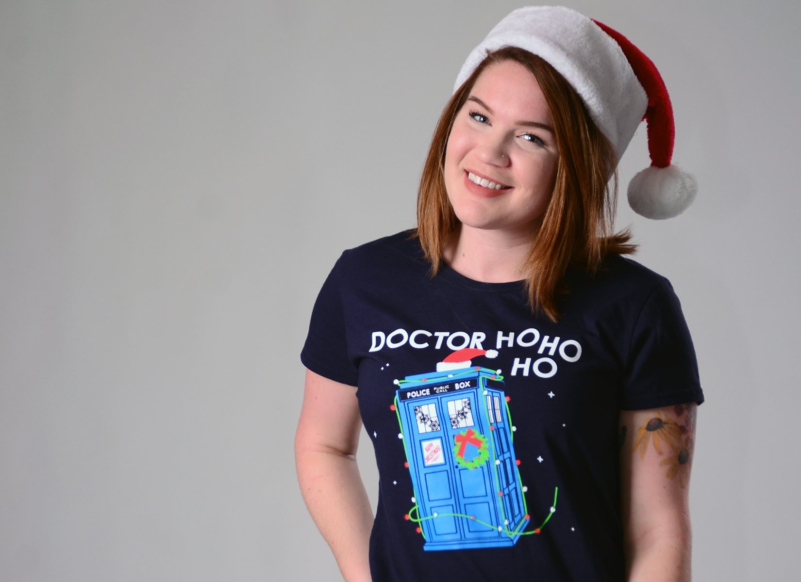 Doctor Ho Ho Ho on Womens T-Shirt