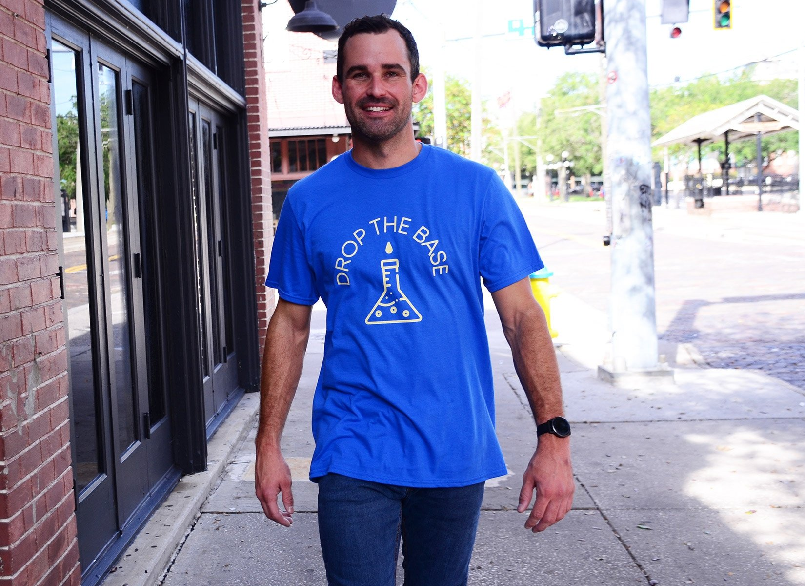 Drop The Base on Mens T-Shirt