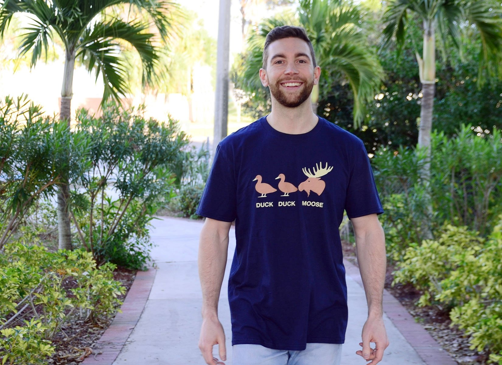 Duck Duck Moose on Mens T-Shirt