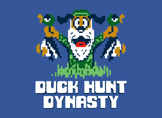 Duck Hunt Dynasty on Mens T-Shirt