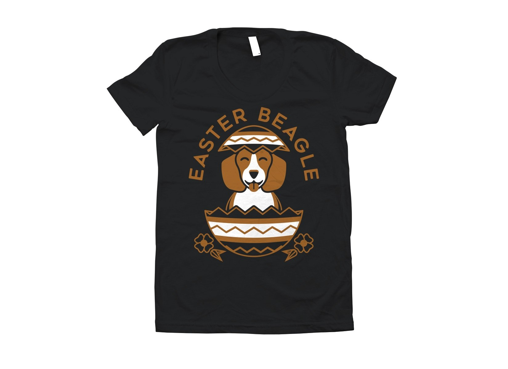 Easter Beagle on Juniors T-Shirt
