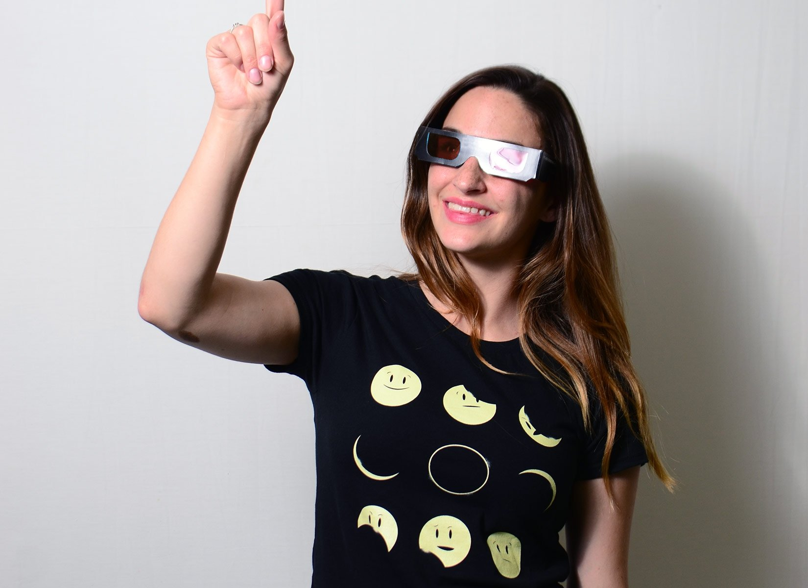 Eclipse Emoji on Womens T-Shirt