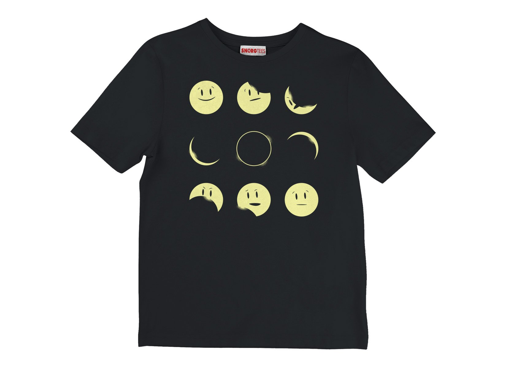 Eclipse Emoji on Kids T-Shirt