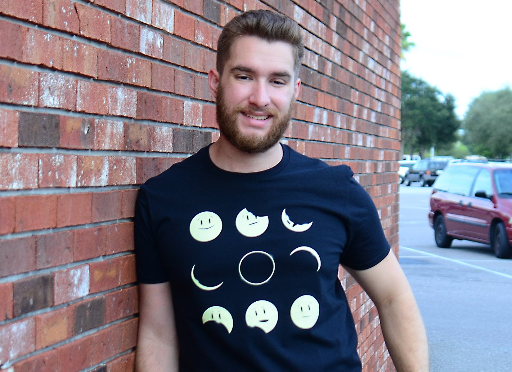 Eclipse Emoji on Mens T-Shirt