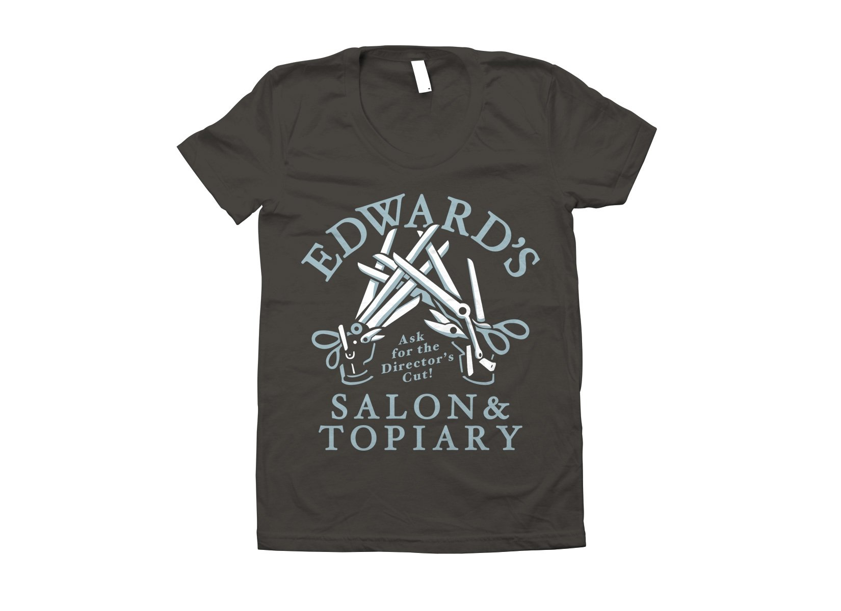Edward's Salon and Topiary on Juniors T-Shirt