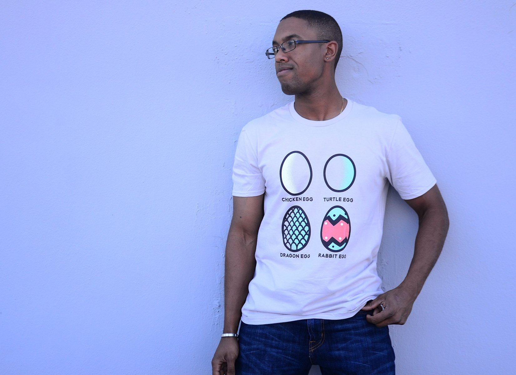 Rabbit Egg on Mens T-Shirt