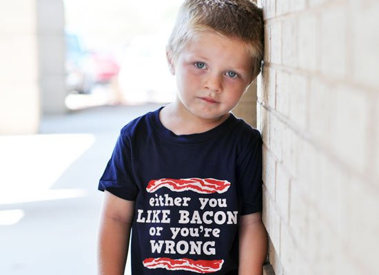 Either You Like Bacon Or You're Wrong on Kids T-Shirt